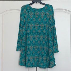 Ikat Printed Dress Size Small NWOT